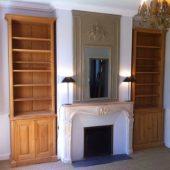 Double meuble cheminée