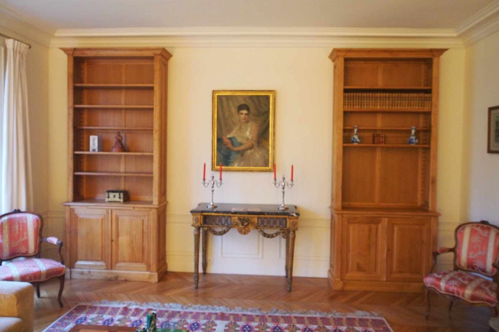 modele bibliotheque en bois pour salon. Black Bedroom Furniture Sets. Home Design Ideas