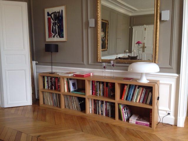 biblioth que contemporaine basse. Black Bedroom Furniture Sets. Home Design Ideas