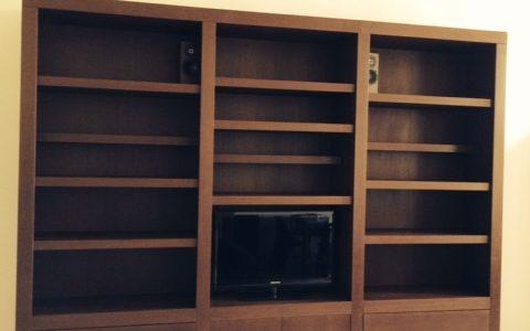 Bibliothèque en wengé