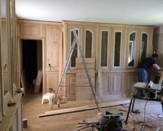 Réalisation d'un salon à Saint-Léger en Yvelines