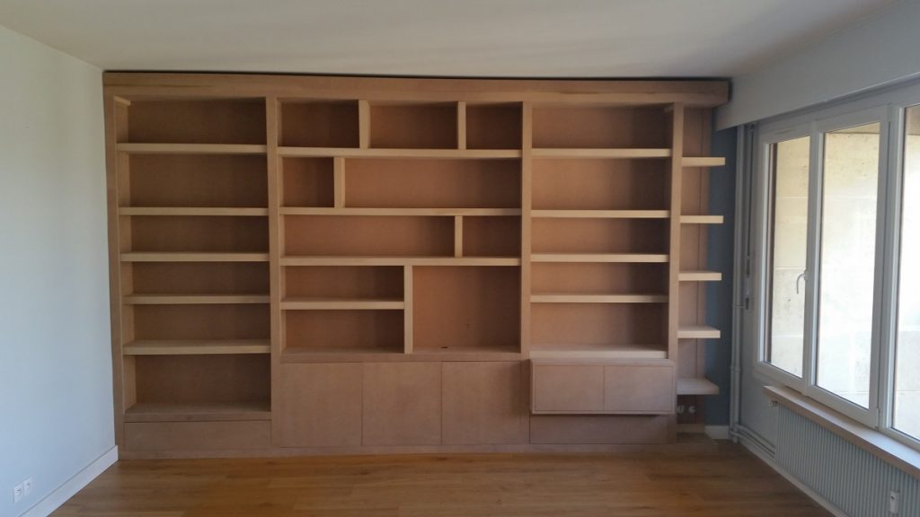 Bibliothèque meuble TV 2