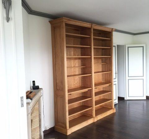 Bibliothèque de salon (bibus) de style traditionnel