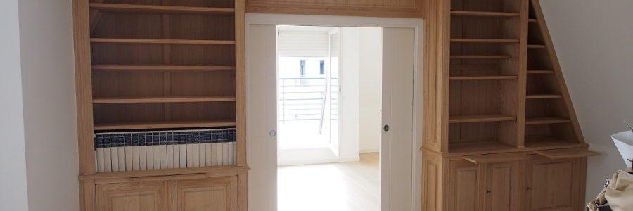 Des idées de bibliothèques pour un appartement parisien
