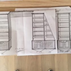 Plan bibliothèques sous toit plan