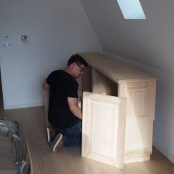 Réalisation du meuble bas