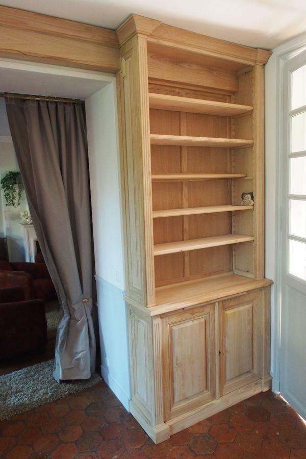 Deux biblioth ques sur mesure en chataigner de style louis xvi - Creperie passage des deux portes versailles ...