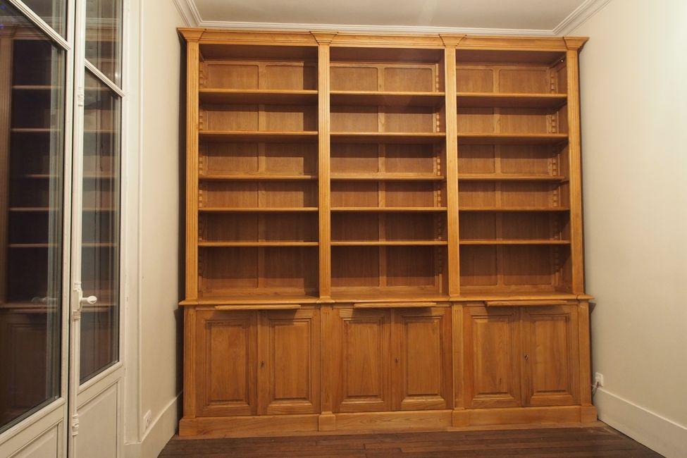 bibliothèque de parquet