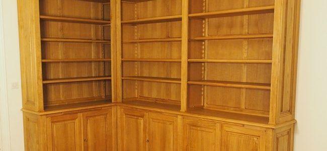 Bibliothèque d'angle sur mesure