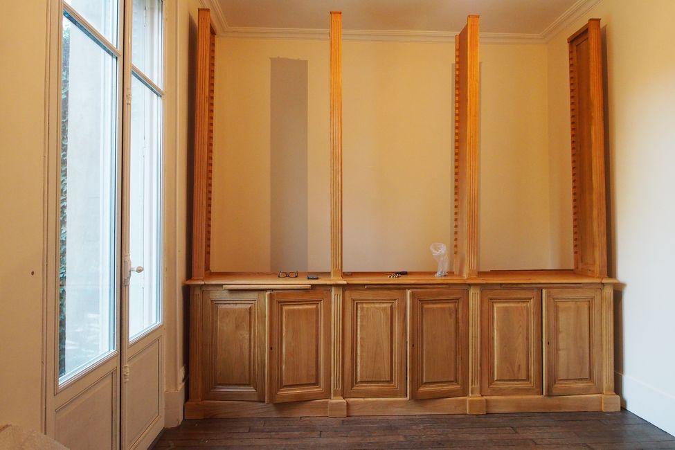 biblioth que de parquet de style louis xvi. Black Bedroom Furniture Sets. Home Design Ideas