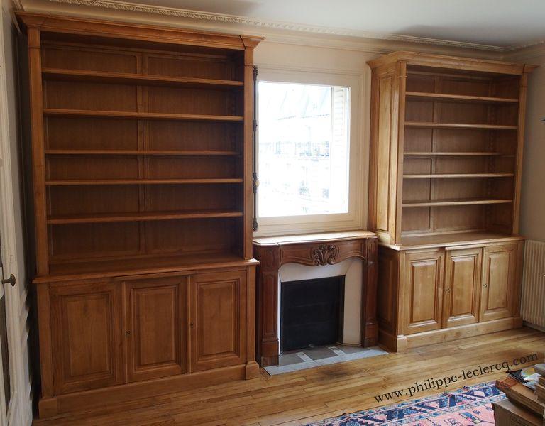 paire de biblioth ques traditionnelles et dressing sur mesure. Black Bedroom Furniture Sets. Home Design Ideas