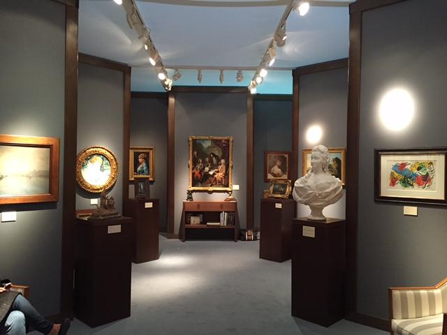 Stand de la Galerie Alexis Bordes à la BRAFA