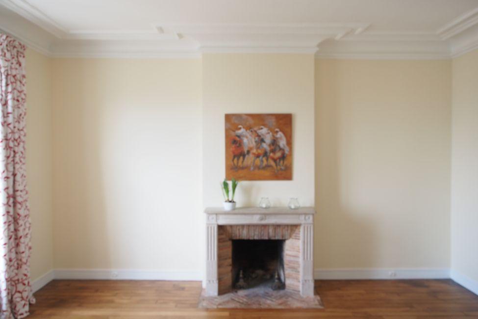 paire de biblioth ques encadrant une chemin e. Black Bedroom Furniture Sets. Home Design Ideas