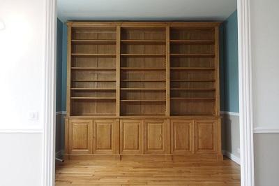 Réalisation pour une bibliothèque dans une belle demeure de Saint Germain en Laye