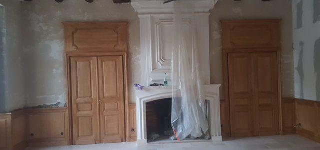 Avancement du chantier dans une demeure en Vendée