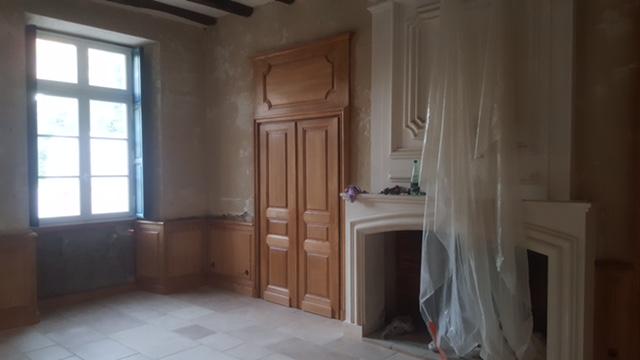 avancement du chantier dans une demeure en vend e. Black Bedroom Furniture Sets. Home Design Ideas
