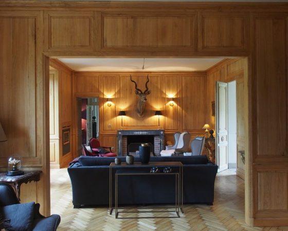 Boiseries et bibliothèques pour réhabilitation d'un château