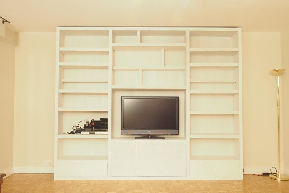 grande et l gante biblioth que contemporaine pr te tre peinte. Black Bedroom Furniture Sets. Home Design Ideas