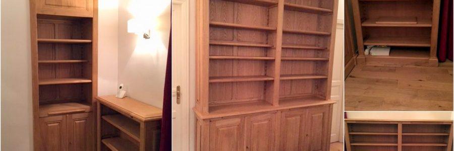 Réalisation de quatre meubles en châtaignier pour une maison de Versailles
