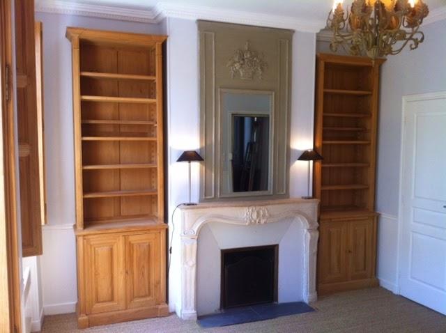 double biblioth que. Black Bedroom Furniture Sets. Home Design Ideas